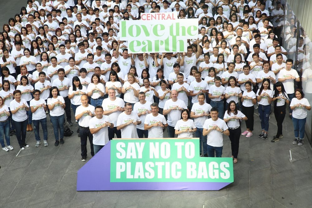 Central Retail announces a commitment to become the first plastic bag-free operator from June 5th onward