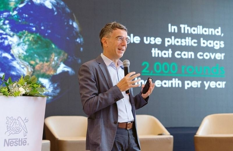 Nicolo Galante shared his vision on Plastic & Sustainability at Nestle Communication Director Conference
