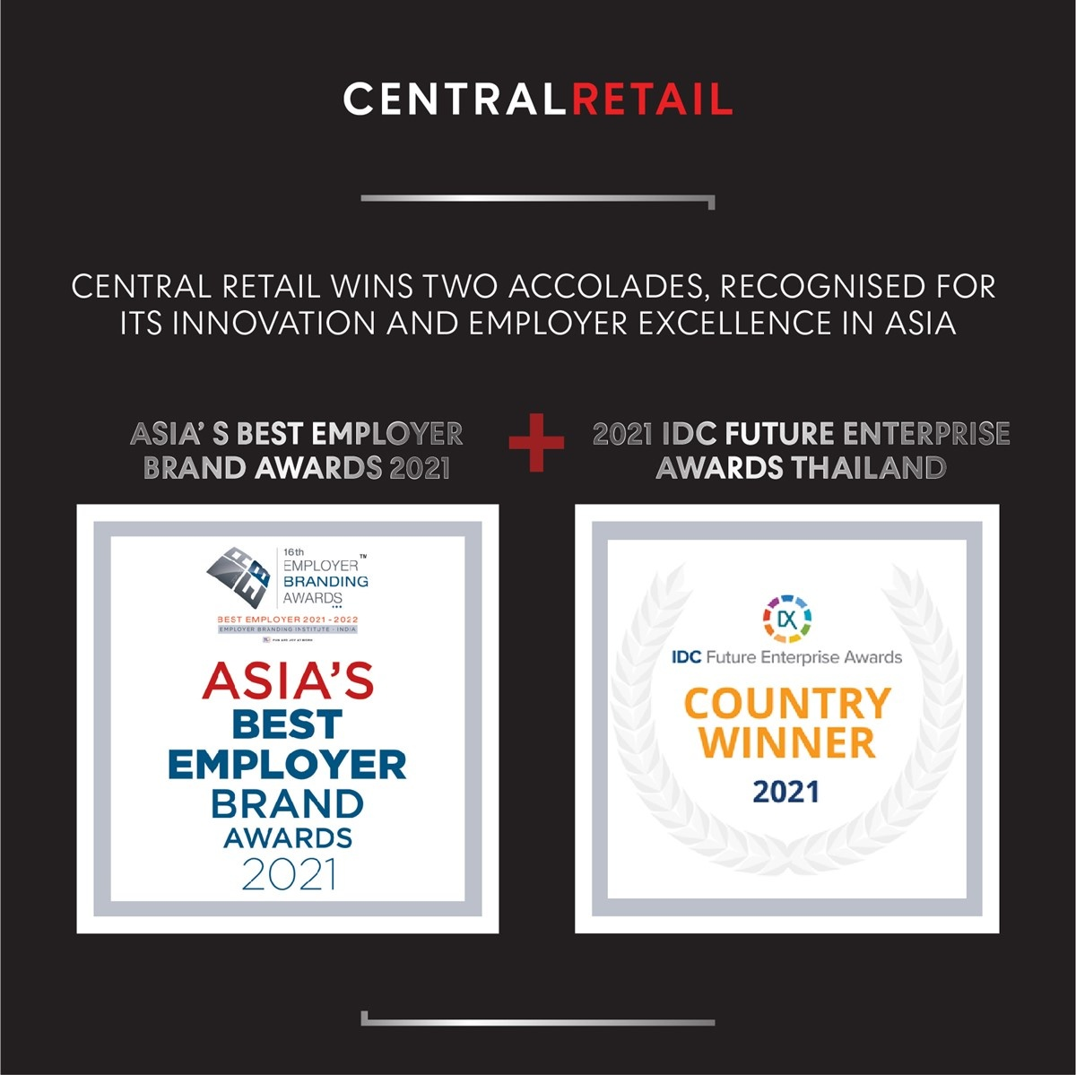 Central Retail Wins Two Accolades, Recognised for its Innovation and Employer Excellence in Asia